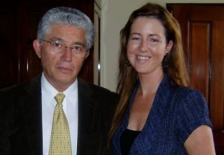 Vice President Alfio Piva and Christina Tobin