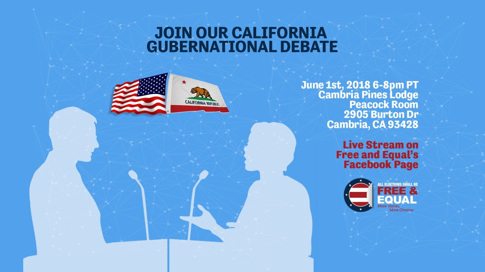 Join Free and Equal's California Gubernational Debate