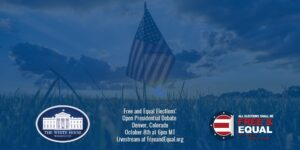 Free and Equal's Presidential Debate #2 USA Grass Fields Banner - October 2020